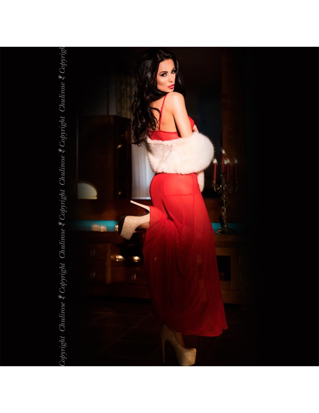 Camisa De Noite E Tanga Cr-3470 Vermelha - 36 S - PR2010340299