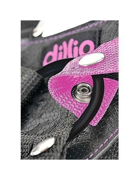 Arnês Com Suspensórios E Dildo 7' Dillio Rosa - PR2010343844