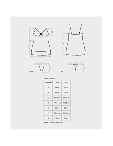 Camisa De Noite Subtelia Obsessive Branca - 36-38 S/M - PR2010332155