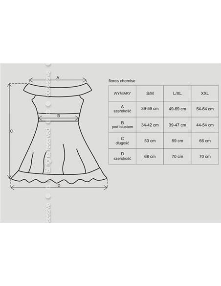 Camisa de Noite e Tanga Flores Obsessive Preta - 36-38 S/M #1 - PR2010331510