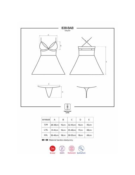Camisa de Noite e Tanga 838-Bab Obsessive - 36-38 S/M #2 - PR2010348711